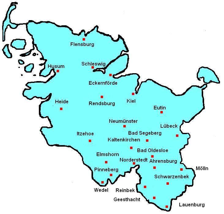 Landesverband Schleswig Holstein Sh Karte